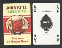 Collectible Advertising playing cards John Bull home brew beer
